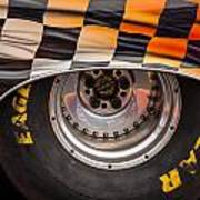 Wheel And Chequered Flag Art Print