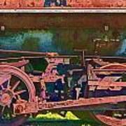Wheels Of An Old Vintage Train Engine No.1026 Art Print