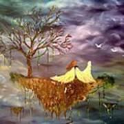 When An Angel Falls Art Print by Nicole Champion