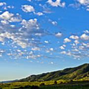 When Clouds Meet Mountains 2 Art Print