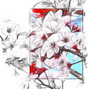 When The Almond Trees Are In Blossom  Art Print