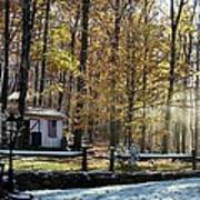 Where Fall Meets Winter Art Print by Jennifer Compton