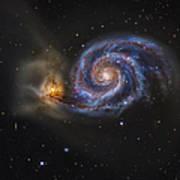 Whirlpool Galaxy Art Print