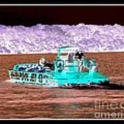 Whirlpool Jet Boat Niagara Falls Inverted Art Print