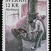 Whisky Postage Stamp Print Art Print