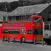 Whitby Tour Bus Art Print