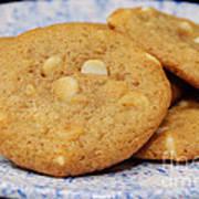 White Chocolate Chip Cookies Art Print