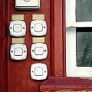 White Doorbells Art Print