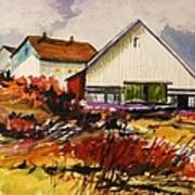 White Farm-spring Art Print