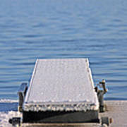 White Frost Diving Board Art Print