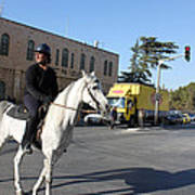 White Horse In Bethlehem Street Art Print