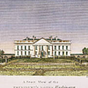 White House, D.c., 1820 Art Print