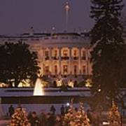 White House, From Elipse At Christmas Art Print