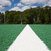 White Line On An Athletic Field Art Print by Sam Bloomberg-rissman