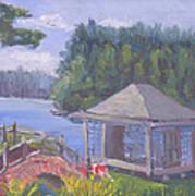 White Pine Camp Tea House Art Print