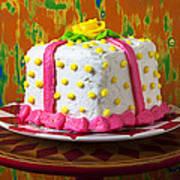 White Present Cake Art Print