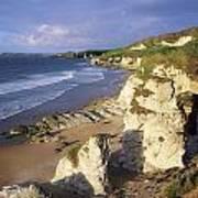 White Rocks Beach, Between Portrush & Art Print