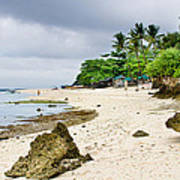 White Sand Beach Moal Boel Philippines Art Print