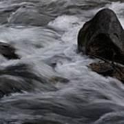 White Water Rushes Over Rocks Art Print