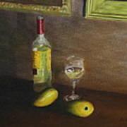 White Wine And Mangoes Art Print