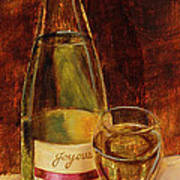 White Wine-joyous Art Print