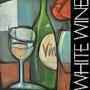 White Wine Poster Art Print