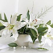 Whites Lilies Art Print