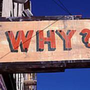 Why Art Print by Garry Gay