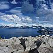 Wide View Of Crater Lake Art Print