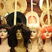 Wigs And Hats Art Print