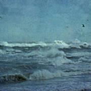 Wild Blue - High Surf - Outer Banks Art Print