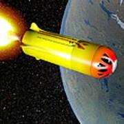 Wild Fire Private Spacecraft, Art Art Print by Christian Darkin