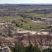 Wild Mountain Goat On Top Of The Badlands Art Print