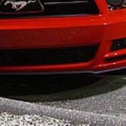 Wild Red Mustang Art Print
