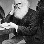 William Cullen Bryant, American Poet Art Print by Photo Researchers