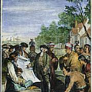William Penns Treaty, 1682 Art Print
