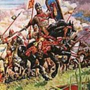 William The Conqueror At The Battle Of Hastings Art Print