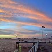 Williams Pier During Sunrise In Gulfport Florida Art Print