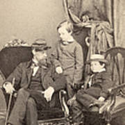 Willie & Tad Lincoln, 1862 Art Print