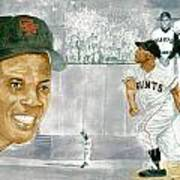 Willie Mays - The Greatest Art Print