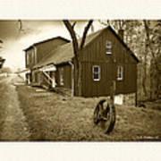 Williston Mill - Sepia Art Print
