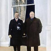 Wilson & Taft: White House Art Print