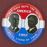 Wilson Campaign Button Art Print