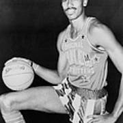Wilt Chamberlain, Wearing Uniform Art Print