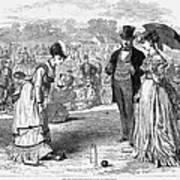 Wimbledon: Croquet, 1870 Art Print by Granger