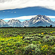 Wind River Range In West Central Wyoming - 02 Art Print