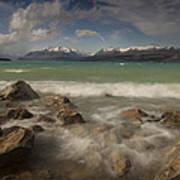 Wind Storm On Lake Pukaki Art Print