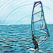 Wind Surfer Art Print