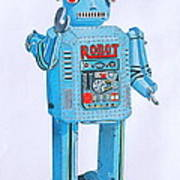 Wind-up Robot Art Print