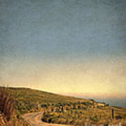 Winding Road To The Sea Art Print